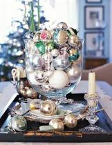 baubles in vases and bowls